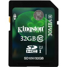 Kingston SDHC 32Gb Class 10 U1 200x (SD10V/32Gb)