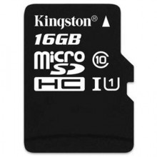Kingston MicroSDHC 16Gb Class 10 + SD adapter