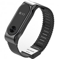 Xiaomi Metal bracelet Black металлический браслет для Mi band 2