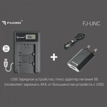 Зарядное устройство с адаптером 5 Вт для для Canon LP-E17 (Fujimi FJ-UNC-LPE17)